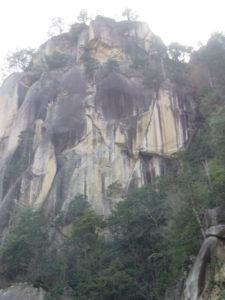 昇仙峡の壁の写真